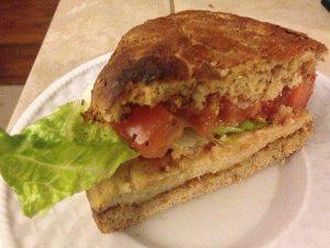 FitOldDog's TVP Chicken sandwich