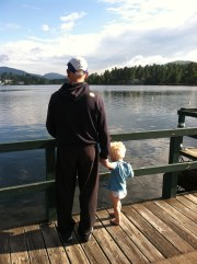 FitOldDog with his grandson, after completing the 2011 Lake Placid Ironman
