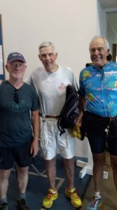 Kurt Kahl and Bob Scott, great Ironman triathletes, supporting FitOldDog, finding his passion in sports.