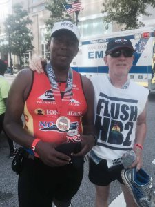 Ironman about people; FitOldDog met some great people at the back of the pack, including Carl.