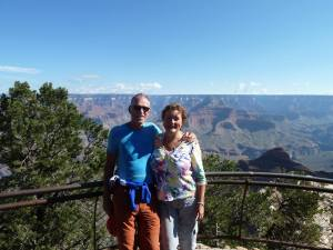 healthy grief for healthy aging: Frits and Machteld at the Grand Canyon.