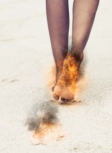 feet on fire; image copyright purchased from ShutterStock, Inc.