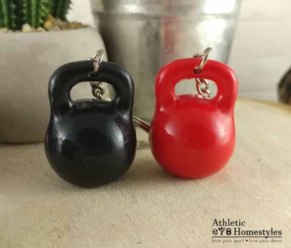 kettlebell keychain bag accessory