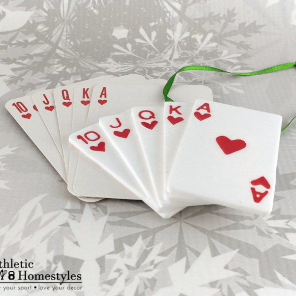 Poker Hand Royal Flush Christmas Ornament