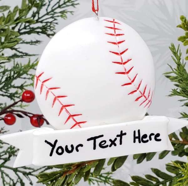 Baseball Christmas Ornament Sports Decoration