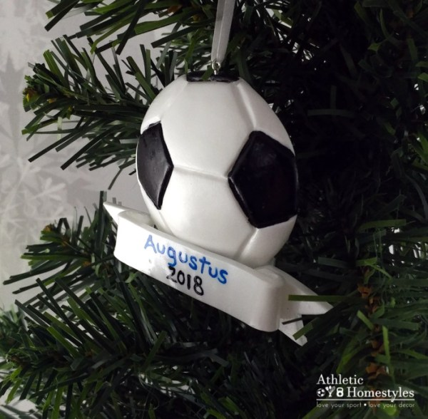 Soccer Ball Sports Christmas Ornament
