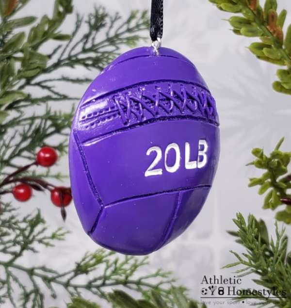 Wall ball Crossfit Christmas Ornament Gym Athletic Decor Decoration Gift