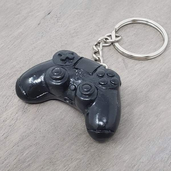PS4 Playstation 4 Video Game Controller Keychain gaming electronic entertainment gamer gift zipper charm