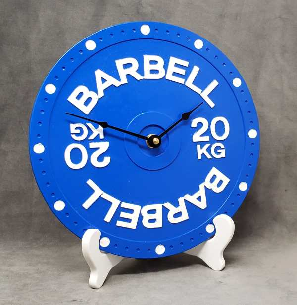 Barbell clock home gym decor decoration wall powerlifting crossfit weightlifting bodybuilding fitness 20kg weight plate