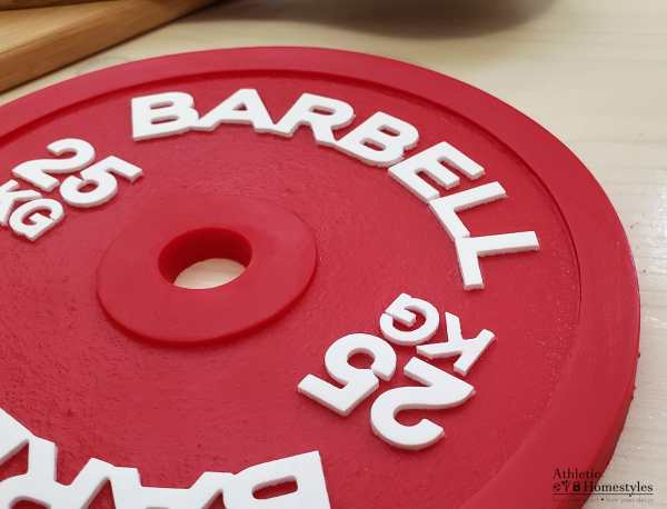 Barbell Silicone Hot Pad Trivet 25KG Powerlifting Crossfit Kitchen Sports Decor