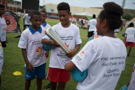 The Queen's Baton was received at a schools sports festival at the Sir John Guise Stadium, in Port Moresby, Papua New Guinea, on 4 December 2017. This Queen's Baton Relay will engage with all 70 nations and territories of the Commonwealth, over 388 days and cover 230,000km. It will be the longest Relay in Commonwealth Games history, finishing at the Opening Ceremony on the Gold Coast on 4th April 2018.