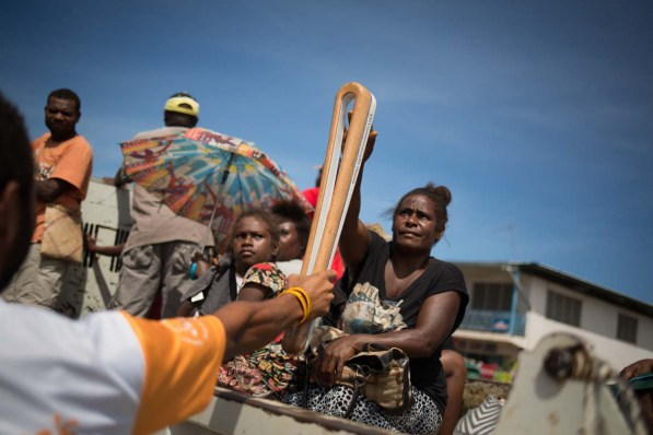 The Queen's Baton, was carried by Fernando Rofeta (athletics), as it relayed through Honiara, Solomon Islands, on 6 December 2017. This QueenÕs Baton Relay will engage with all 70 nations and territories of the Commonwealth, over 388 days and cover 230,000km. It will be the longest Relay in Commonwealth Games history, finishing at the Opening Ceremony on the Gold Coast on 4th April 2018.