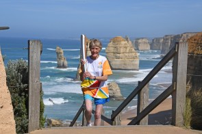 The Queen's Baton today visited the Twelve Apostles and Loch Ard Gorge on the Great Ocean Road Victoria. Batonbearer and conservationist Margaret MacDonald, honoured with an Order of Australia medal, shared the Queen's Baton. From today until 24 January 2018, the Queen's Baton is engaging with thousands of Australians at popular summertime events, iconic locations and children's hospitals around the country, building excitement for when the Queen's Baton Relay revisits each state and territory in a traditional relay mode from 25 January until 4 April 2018. The Gold Coast 2018 Commonwealth Games (GC2018) Queen's Baton Relay is the longest and most accessible in history, travelling through the Commonwealth for 388 days and 230,000 kilometres. After spending 100 days being carried by approximately 3,800 batonbearers in Australia, the Queen's Baton journey will finish at the GC2018 Opening Ceremony on the Gold Coast on 4 April 2018.