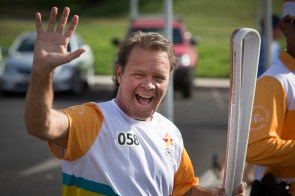Batonbearer Troy Cassar-Daley carrying the Baton as the Queen's Baton Relay travelled through Tamworth. From 25 January to 2 March 2018, the Queen's Baton will visit every other state and territory before Queensland. As the Queen's Baton Relay travels the length and breadth of Australia, it will not just pass through, but spend quality time in each community it visits, calling into hundreds of local schools and community celebrations in every state and territory. The Gold Coast 2018 Commonwealth Games (GC2018) Queen's Baton Relay is the longest and most accessible in history, travelling through the Commonwealth for 388 days and 230,000 kilometres. After spending 100 days being carried by approximately 3,800 batonbearers in Australia, the Queen's Baton journey will finish at the GC2018 Opening Ceremony on the Gold Coast on 4 April 2018.