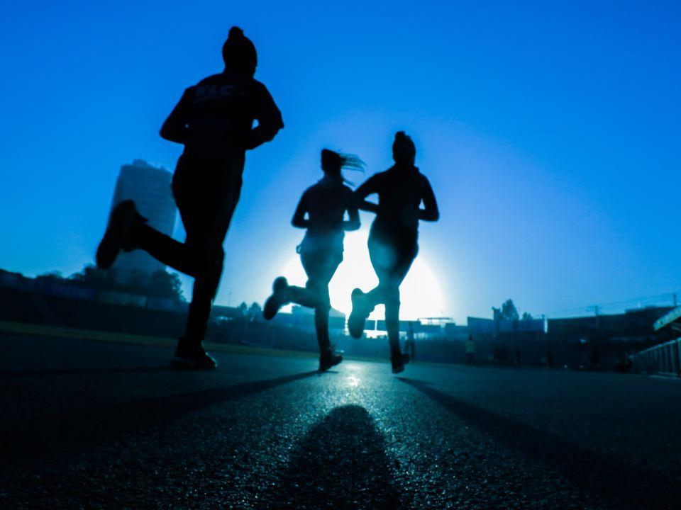 échauffement à la course