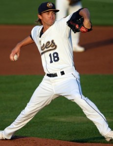 Stockton Ports' Pitcher Tanner Peters (6 IP / 3 H / 1 ER / 0 BB / 6 K / Win)