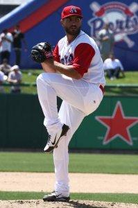 Stockton Ports Pitcher Josh Bowman (8 IP / 7 H / 1 ER / 0 BB / 6 K / Win)