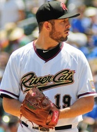 Sacramento River Cats Pitcher Bruce Billings (7 2/3 IP / 4 H / 1 ER / 1 BB / 8 K / Win)