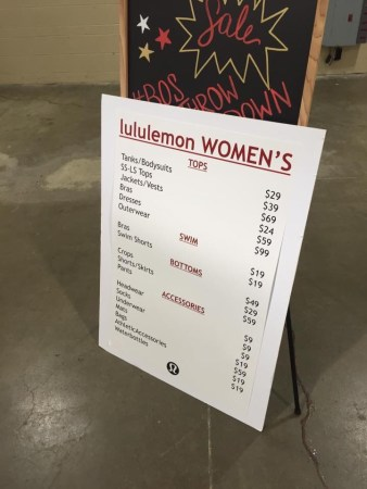Warehouse Sale Price List: VIP Preview & Day 1
