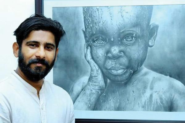 Artist Santhosh Ozhoor