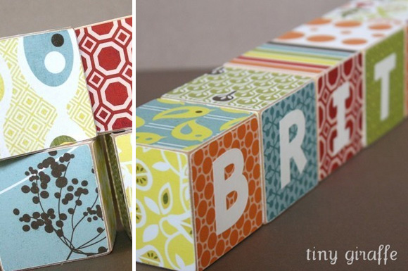mod retro wooden baby blocks by tiny giraffe