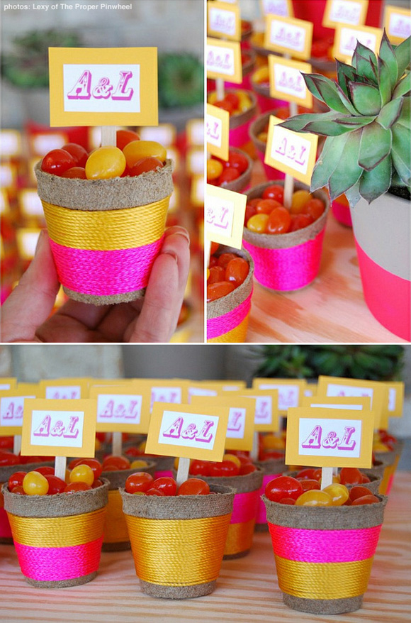 favors in seed starter pots