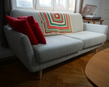 Canapé SITS - plaid ramené de Copenhague
