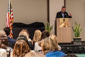 John Tayer of the Boulder Chamber of Commerce presided over the festivities.