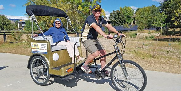 Innovation in Boulder senior living: Take a ride on the pedicab
