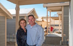 Adam and Kimberly Fels were first in line when Rogers Farm opened for sale, and their new home will be completed this spring. (Photo: Timothy Seibert).