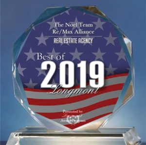 2019 Best of Longmont Real Estate Award