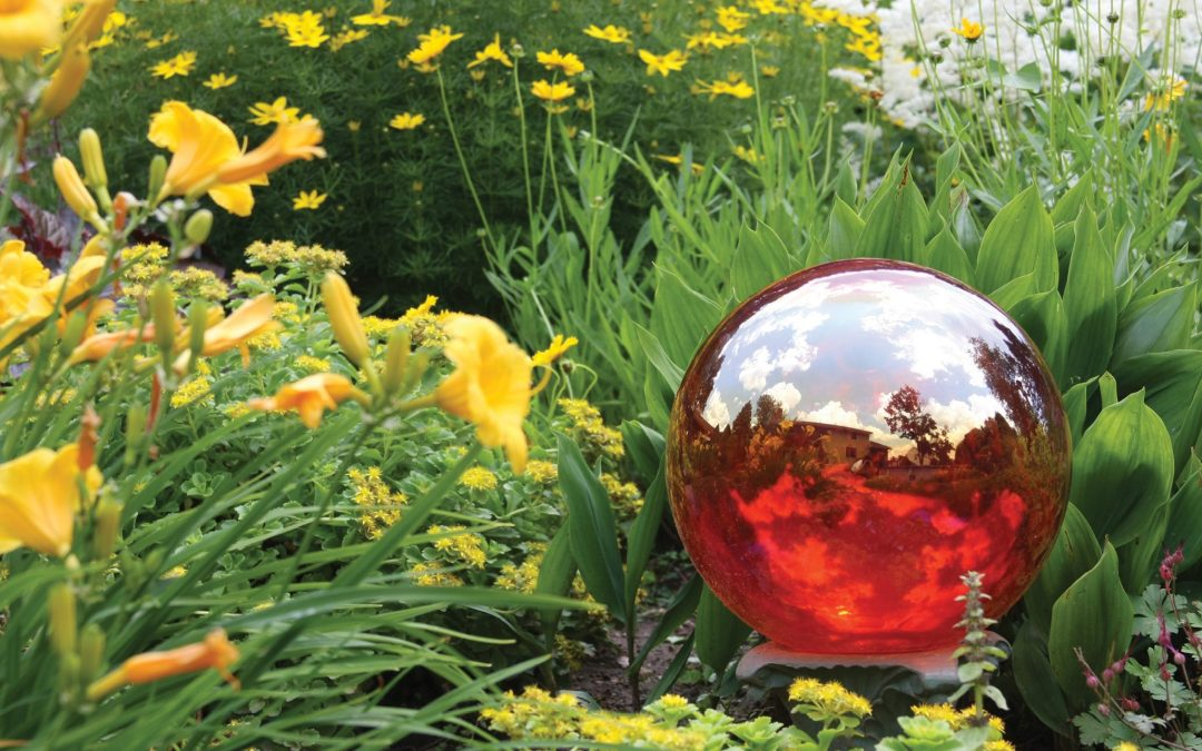 Colorado garden gazing ball predicts busy 2021