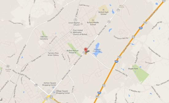 Map Location Buford Village