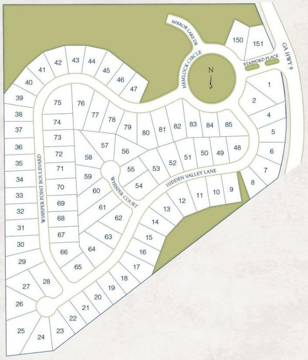 Cumming Georgia Newer Homes Site Plan Whisper Point