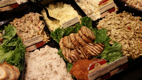 Gourmet Food Case At The Fresh Market