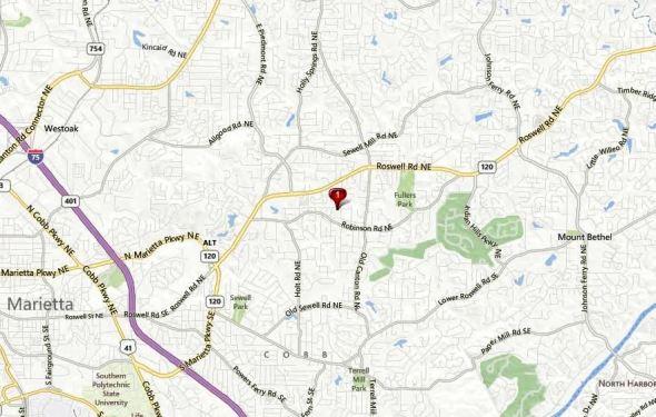 Marietta Map Ashebrooke Neighborhood Location