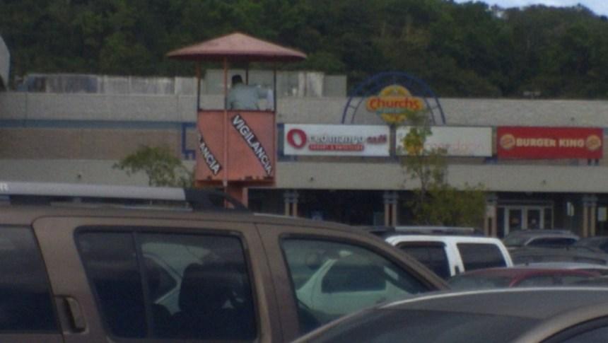 security tower at mayaguez mall parking lot