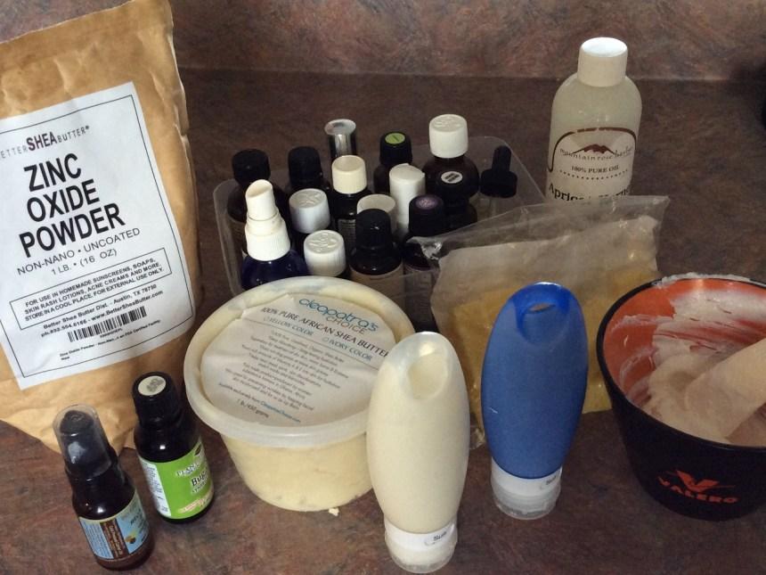 diy homemade sunscreen ingredients