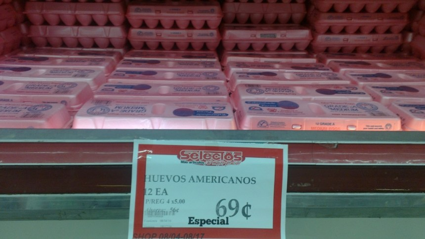 eggs for 69 cents a dozen - good deals in puerto rico