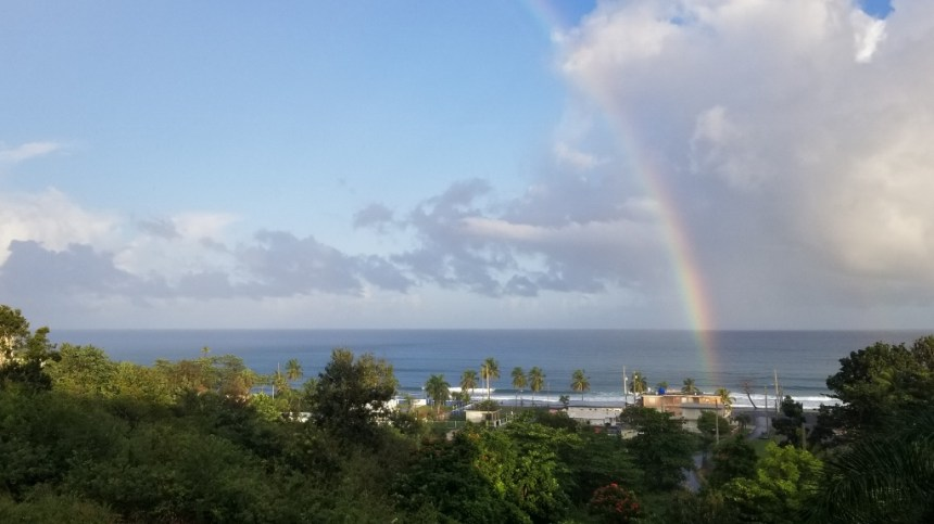 Mosquito Control Puerto Rico - Rainbow from Balcony during morning coffee time