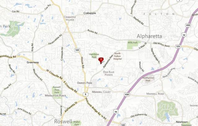 Roswell Map Location Of Arbor Creek Neighborhood
