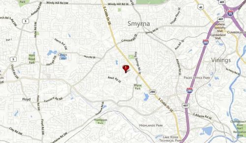 Map In Smyrna GA Reed Place Neighborhood Location