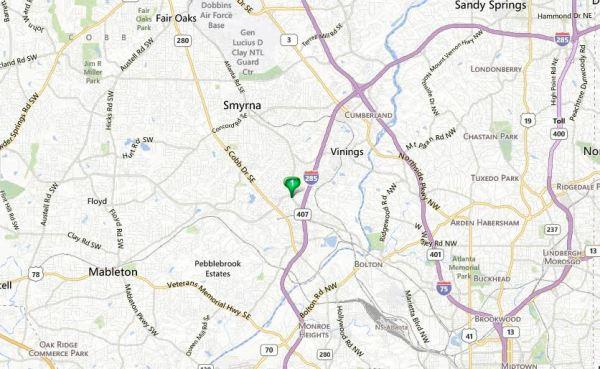 Map Of Smyrna Community Location