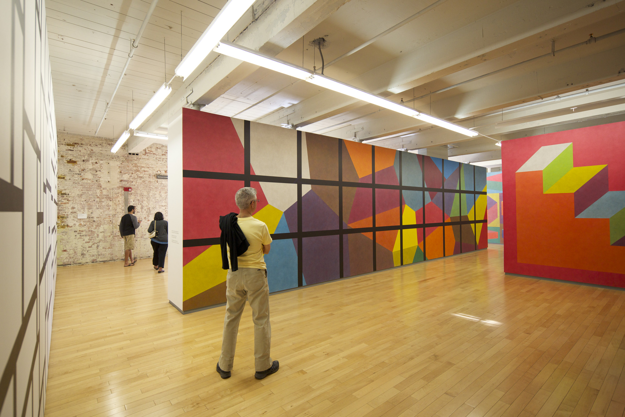 Sol LeWitt, Wall Drawing 692: Continuous forms with color in washes superimposed. (1991) MASS MoCA, North Adams, MA