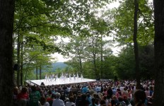 Nutmeg Conservatory performing as part of the free Inside/Out performance series, 2012; photo Christopher Duggan (Jacob's Pillow Dance Festival, Becket, MA)