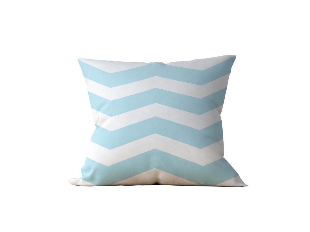 Almofada Decorativa Chevron White & Bleue - 45x45