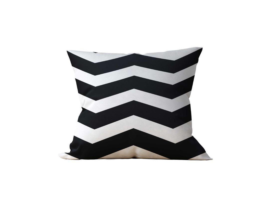Almofada Decorativa Chevron Black & White - 45x45
