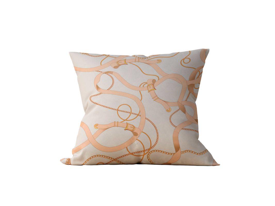 Almofada Decorativa Orange Chain - 45x45 - by #1 AtHome Loja