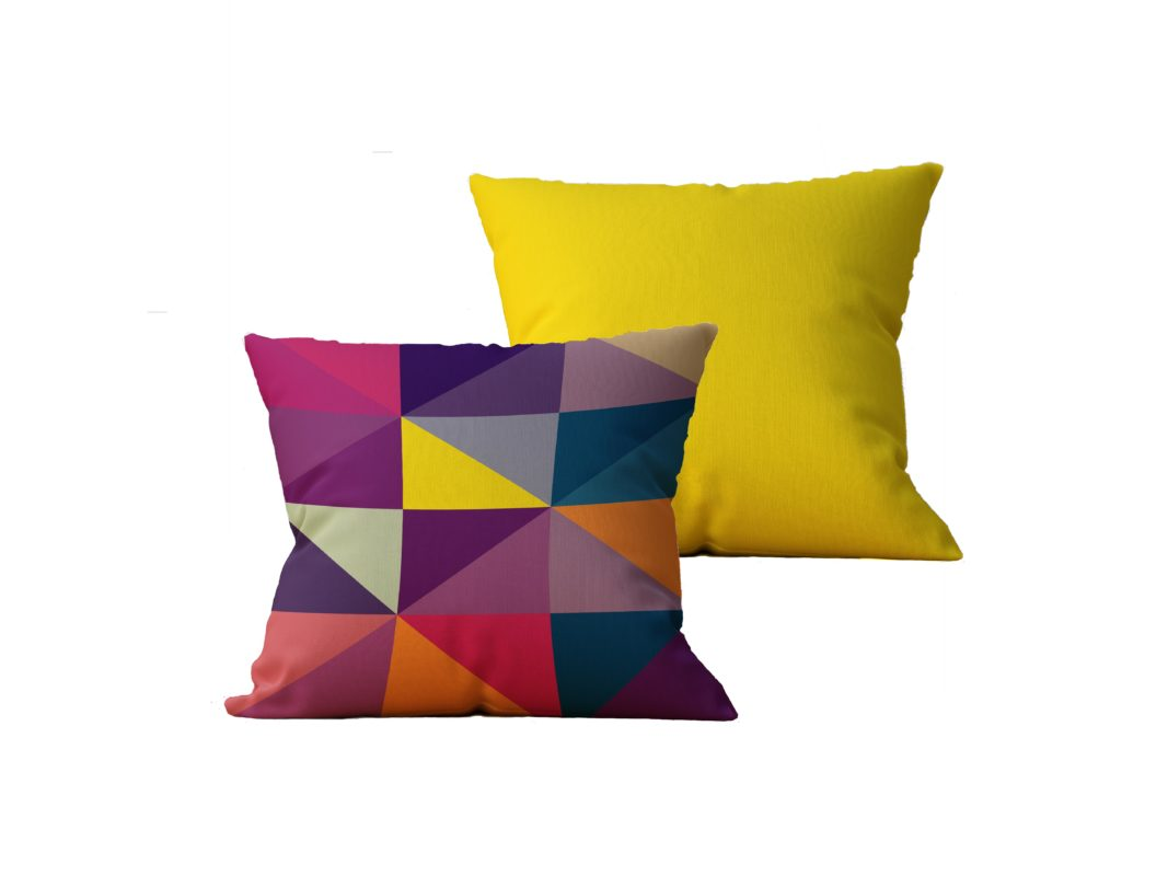 Kit com 2 Almofadas decorativas Geo Color Duo - 45x45 - by #1 AtHome Loja