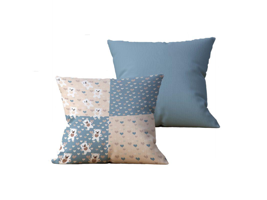 Kit com 2 Almofadas decorativas Patch & Vida - 45x45 - by #1 AtHome Loja